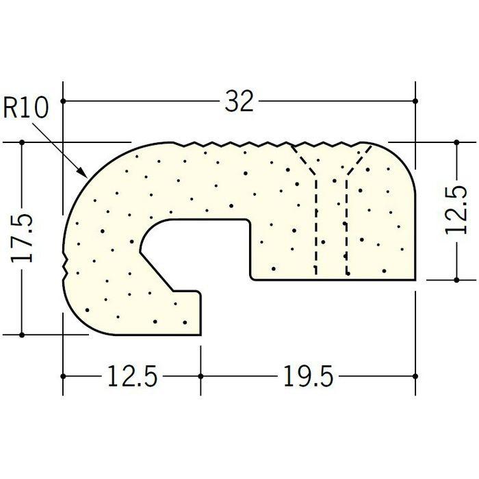 ペンキ・クロス下地材 出隅 ビニール 発泡コーナー10R12.5mm ミルキー 2.6m  01269