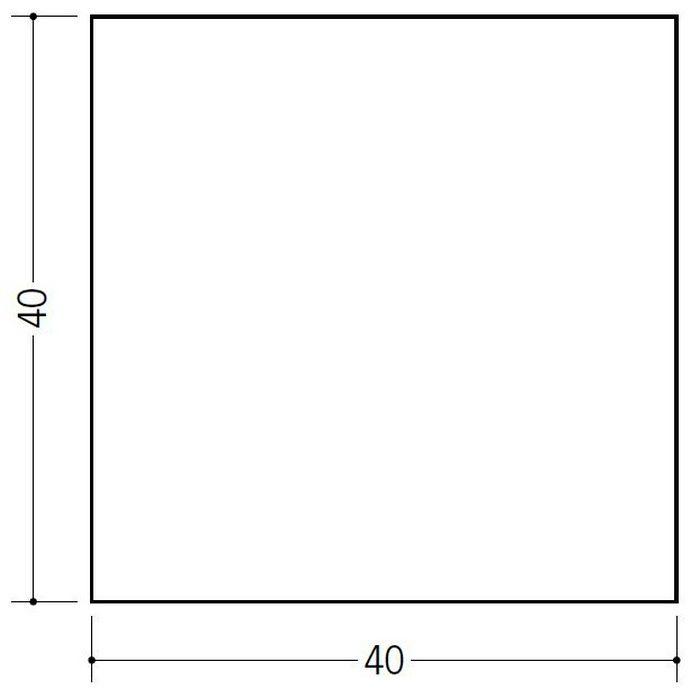 角棒・チャンネル ビニール 角棒40 ホワイト 2m  36245