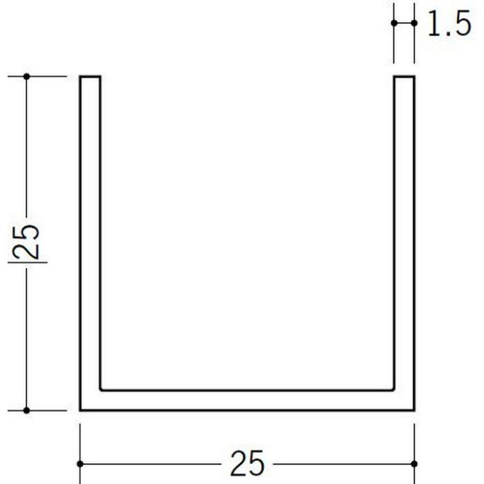 角棒・チャンネル ビニール チャンネル25 ホワイト 2m  36041