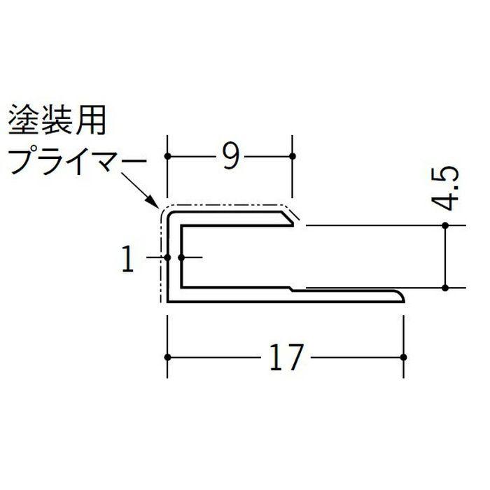 塗装用ジョイナー コ型・H型 ビニール ペンキC型-4.5 ホワイト 2.73m  32016