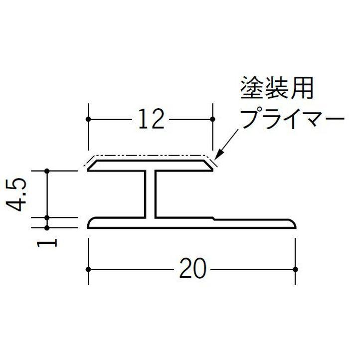 塗装用ジョイナー コ型・H型 ビニール ペンキH型-4.5 ホワイト 2.73m  32023