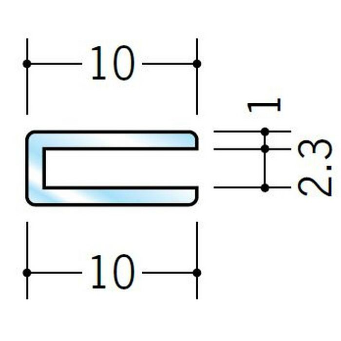 透明ジョイナー コ型・H型 ビニール 透明ジョイナーコ型2 透明 2.5m  36281