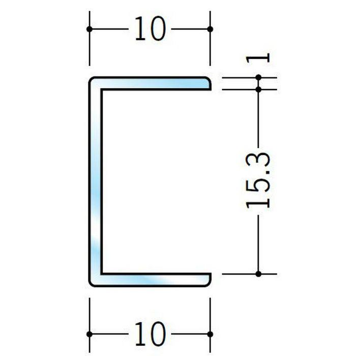 透明ジョイナー コ型・H型 ビニール 透明ジョイナーコ型15 透明 2.5m  36287
