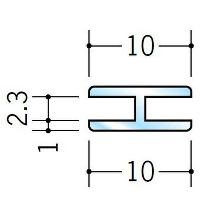 透明ジョイナー コ型・H型 ビニール 透明ジョイナーH型2 透明 2.5m  36271