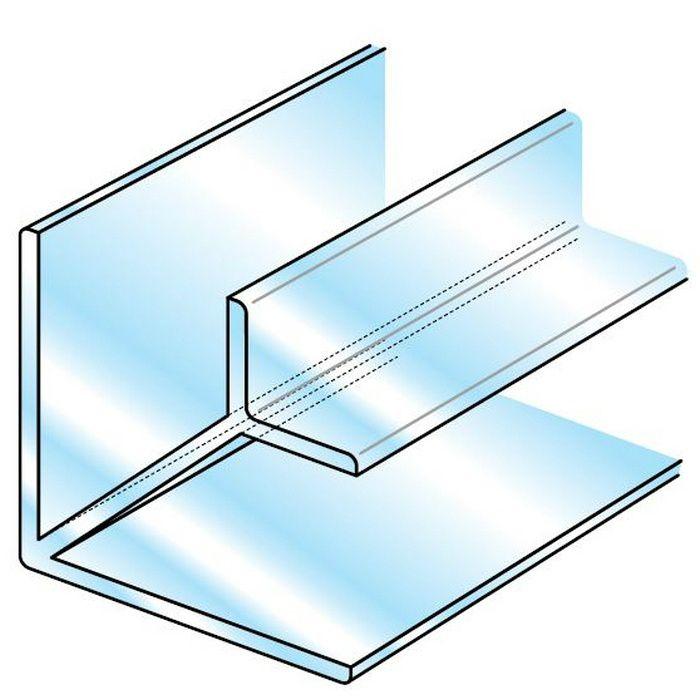 透明ジョイナー 出入隅・アングル ビニール 透明ジョイナー出入隅3 透明 2.5m  36292