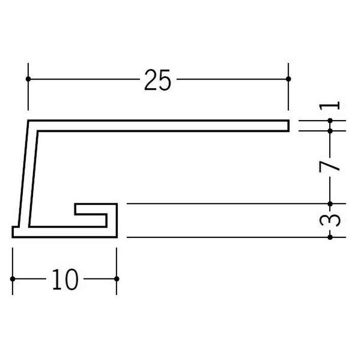 カラー見切縁 ビニール COL-7 グレー 2m  35006-8