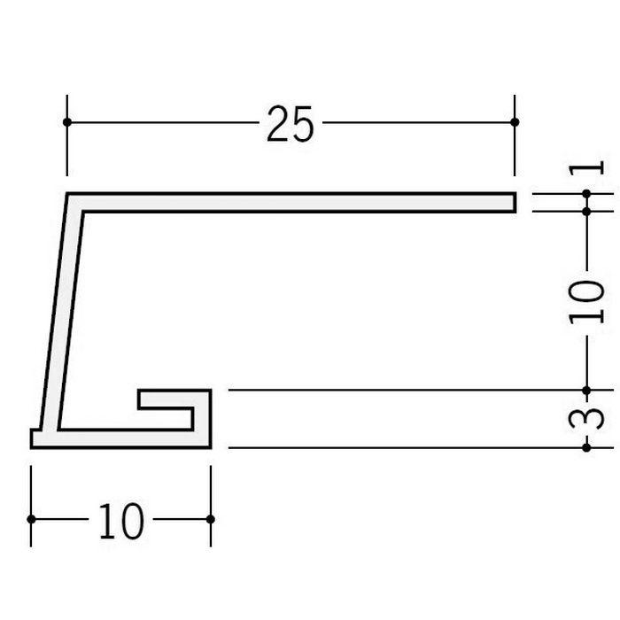 カラー見切縁 ビニール COL-10 アイボリー 2m  35007-2