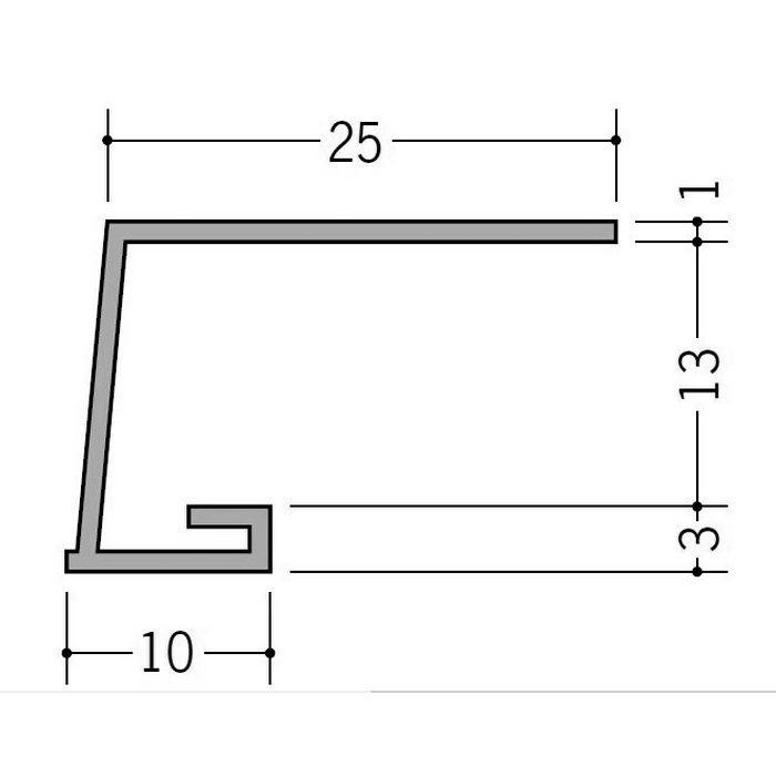 カラー見切縁 ビニール COL-13 グレー 2m  35008-8