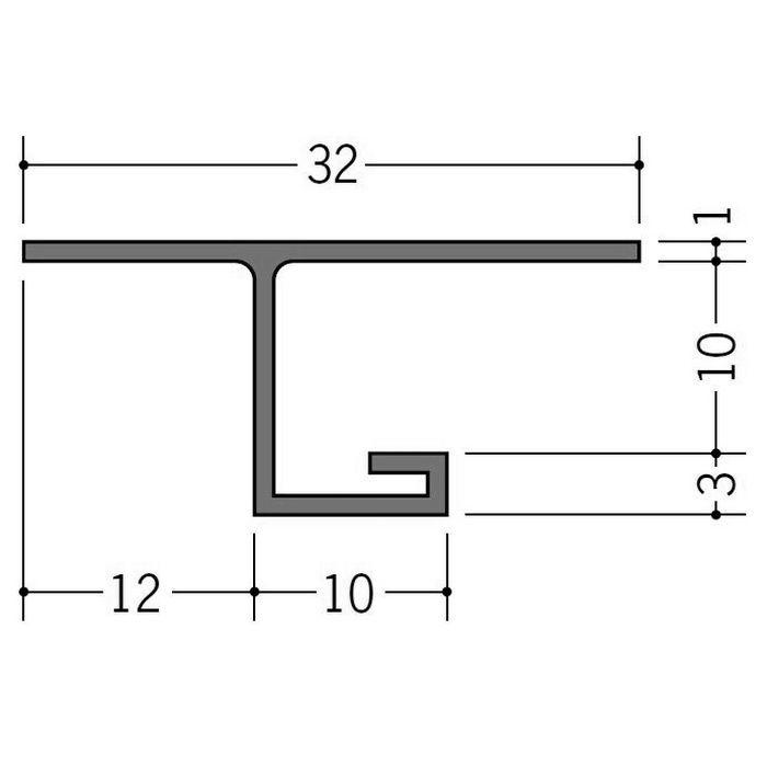 カラー見切縁 ビニール VOL-9 グレー 2m  35013-8