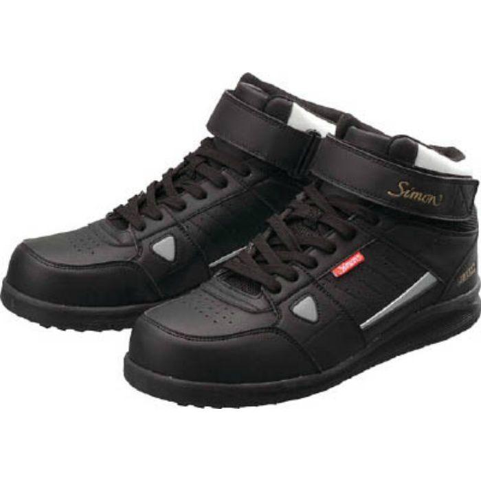 安全スニーカー 編上靴 紐 NS322ブラック 25.5cm NS322B25.5