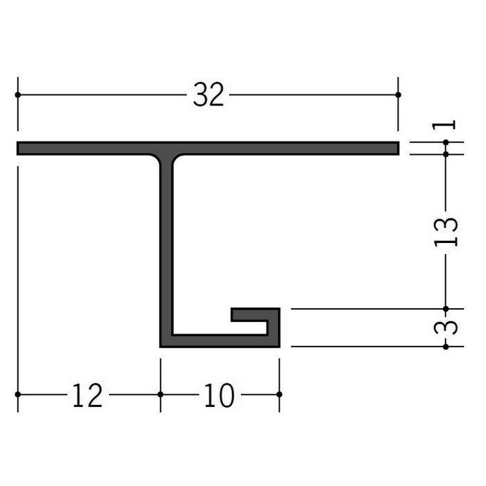カラー見切縁 ビニール VOL-12 グレー 2m  35014-8