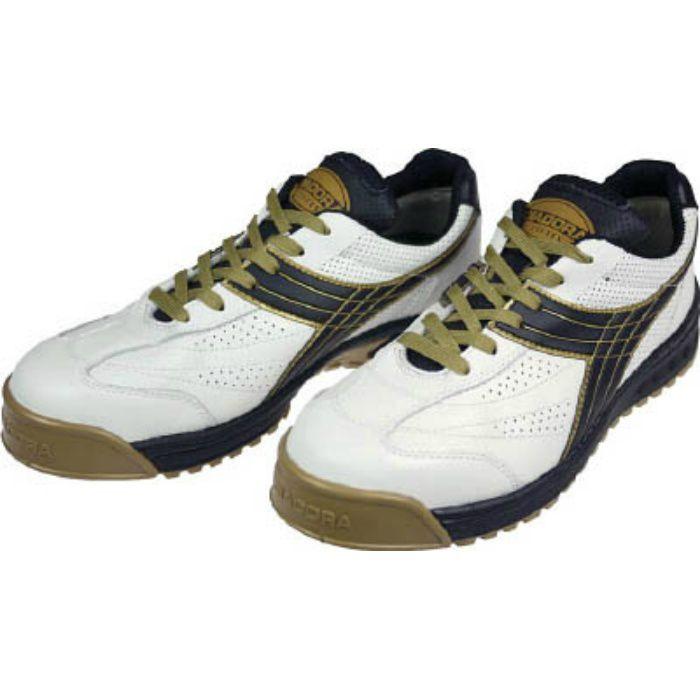 DIADORA 安全作業靴 ピーコック 白/黒 25.0cm PC12250