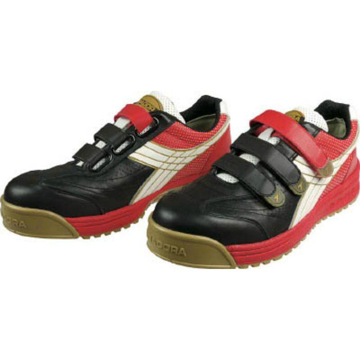 DIADORA 安全作業靴 ロビン 黒/白/赤 26.5cm RB213265