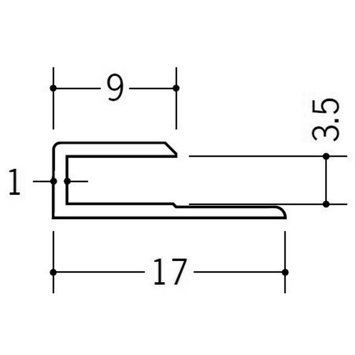 カラージョイナー コ型・H型 ビニール GC-3.5カラー 木目調 2.73m  32001-11