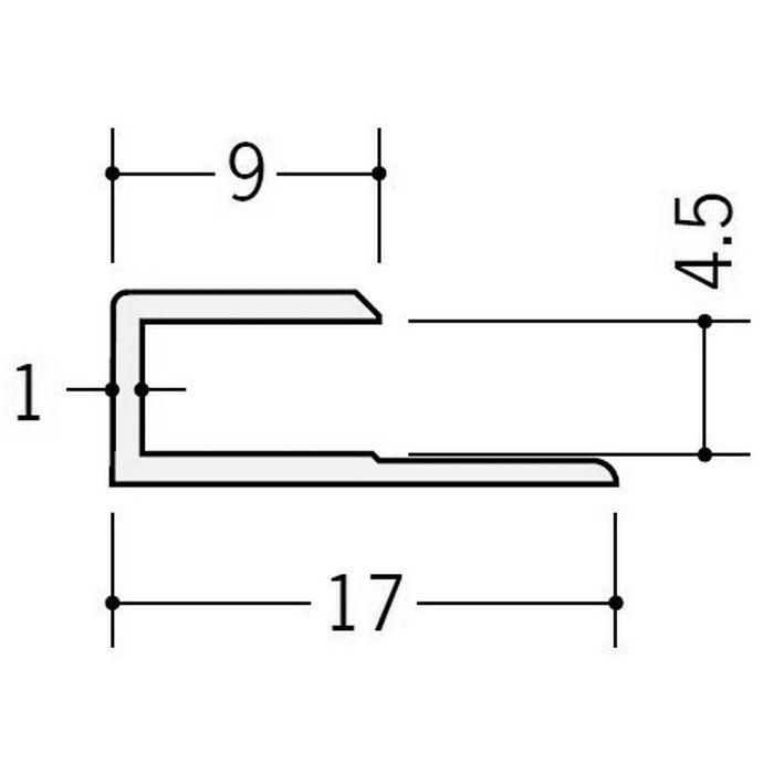 カラージョイナー コ型・H型 ビニール GC-4.5カラー グレー 2.73m  32002-8