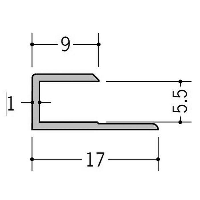 カラージョイナー コ型・H型 ビニール GC-5.5カラー グレー 2.73m  32003-8