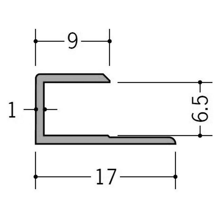 カラージョイナー コ型・H型 ビニール GC-6.5カラー ブラウン 2.73m  32004-9