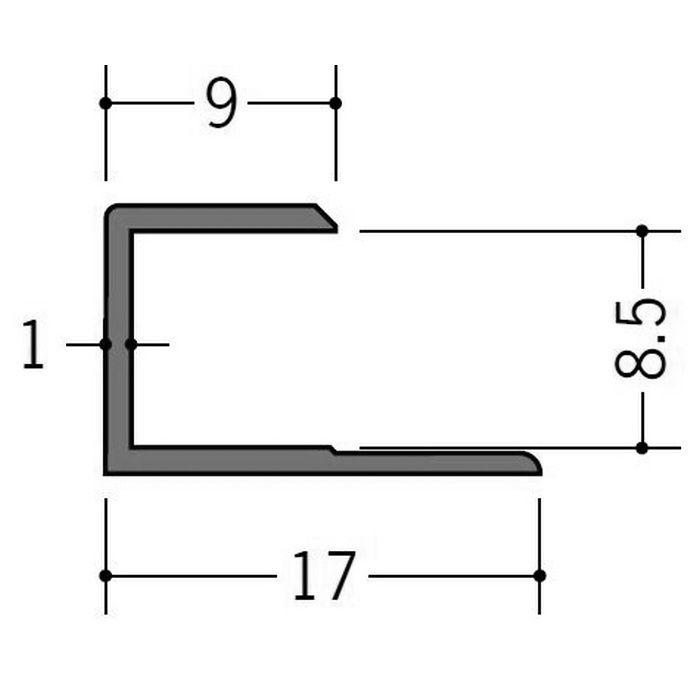カラージョイナー コ型・H型 ビニール GC-8.5カラー コスモブラック 2.73m  32005-10