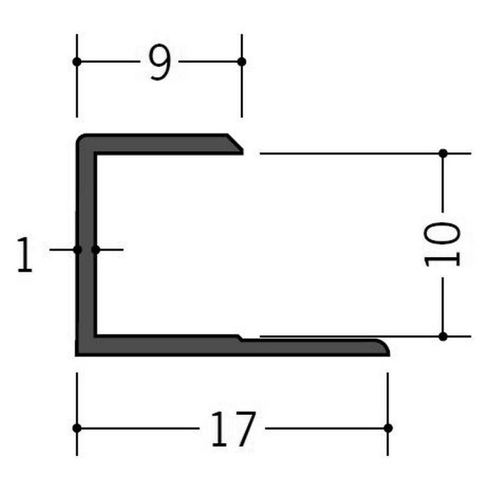 カラージョイナー コ型・H型 ビニール GC-9.5カラー グレー 2.73m  32006-8