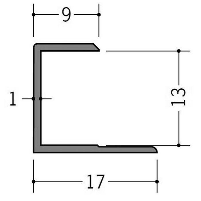 カラージョイナー コ型・H型 ビニール GC-12.5カラー コスモブラック 2.73m  32007-10