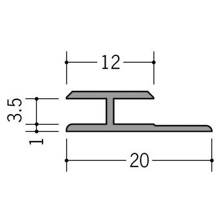 カラージョイナー コ型・H型 ビニール HG-3.5カラー コスモブラック 2.73m  32008-10