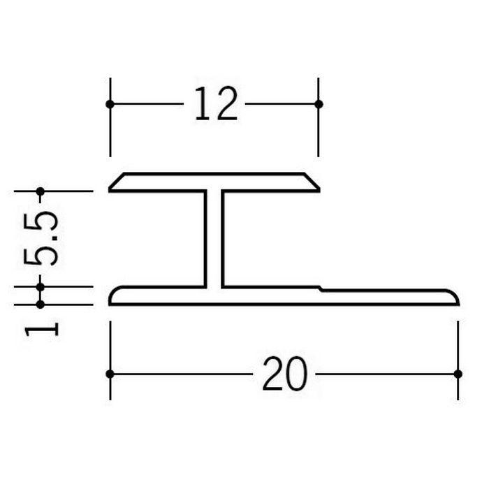 カラージョイナー コ型・H型 ビニール HG-5.5カラー ブラウン 2.73m  32010-9