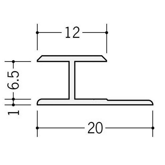 カラージョイナー コ型・H型 ビニール HG-6.5カラー グレー 2.73m  32011-8