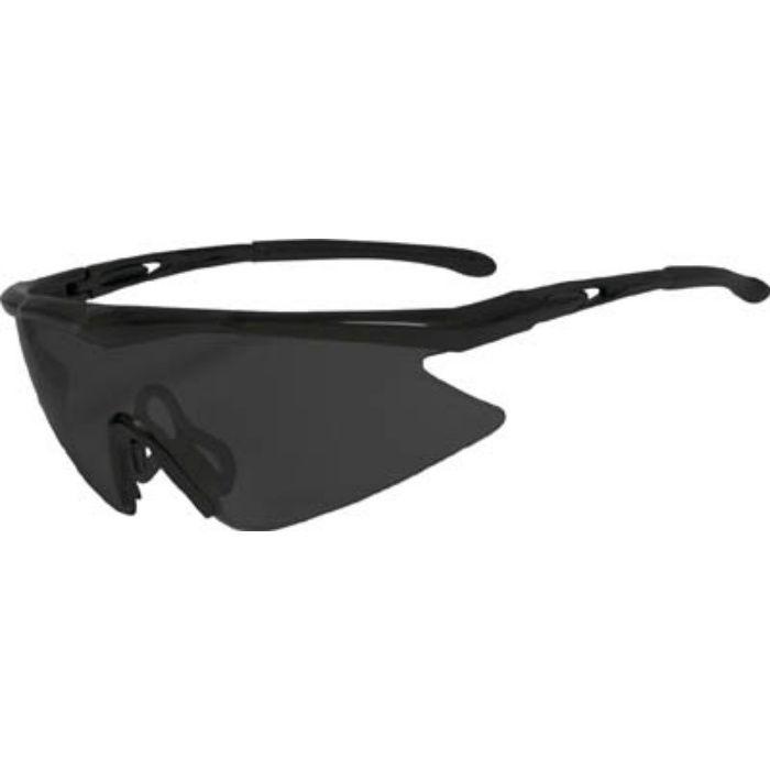 一眼型安全メガネ フレームブラック レンズグレー TSG1856GY 3658295