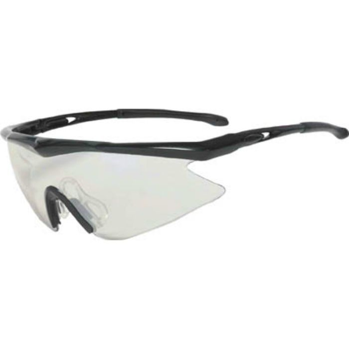 一眼型安全メガネ フレームブラック レンズシルバー TSG1856SV 3658309