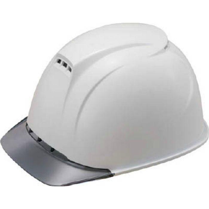 ヘルメット(透明ひさし・高通気性型)白/グレー 1830FZV2W1J
