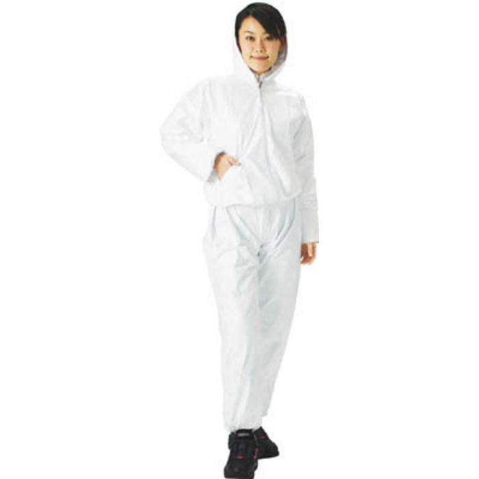 TRUSCO タイベック製作業服 フード付ツーピース L DPM501 2769395