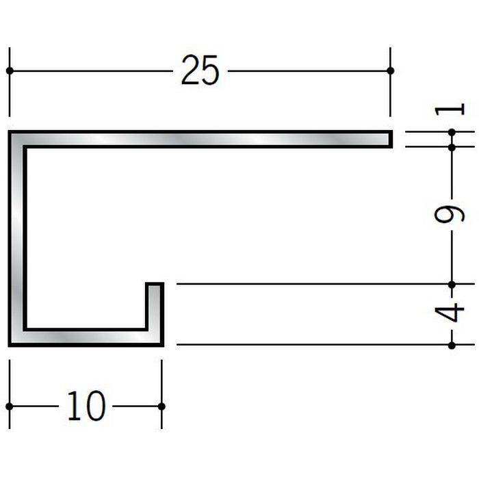 コ型見切縁 アルミ A型9(中) シルバー 3m  51111