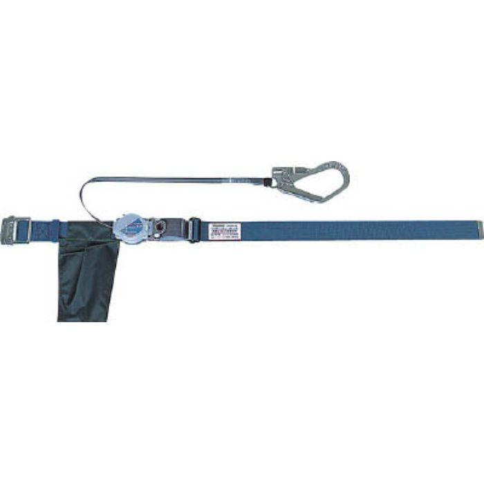 TRUSCO 巻取り式2WAY安全帯 1本つり専用 スチール製バックル 青緑 TSB59BG 2551705  ※在庫お確かめください