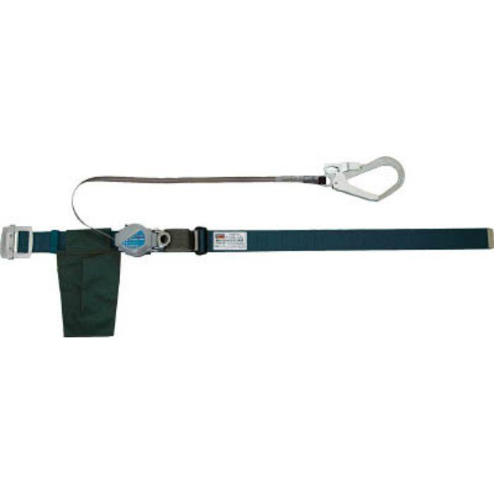 TRUSCO 巻取り式2WAY安全帯 1本つり専用 アルミ製バックル 青緑 TSB59ABG 2551756  ※在庫お確かめください