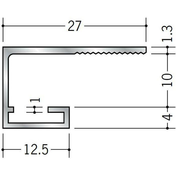 コ型見切縁 アルミ SA-10 シルバー 3m  51094