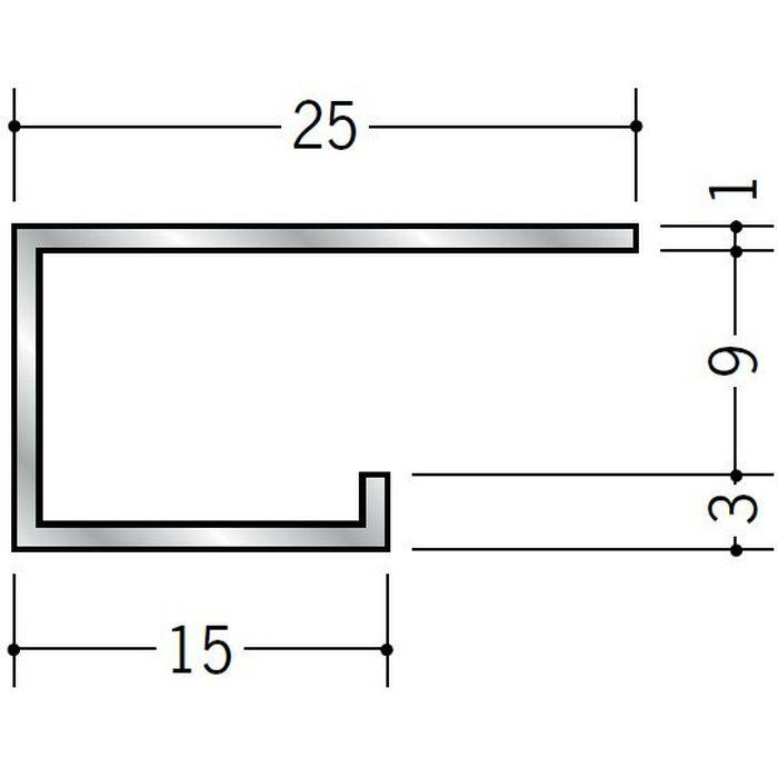 コ型見切縁 アルミ A型8.5(大) シルバー 3m  51112