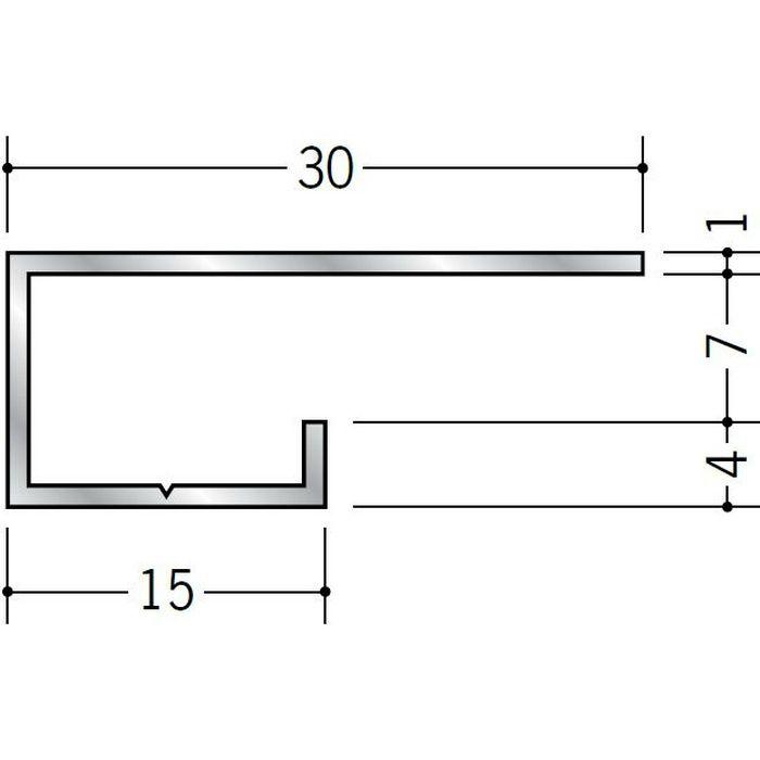 コ型見切縁 アルミ A型6.5 シルバー 3m  51005