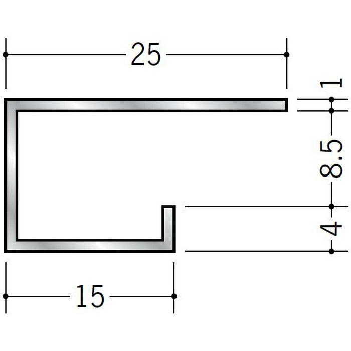 コ型見切縁 アルミ A型89(大) シルバー 3m  53284