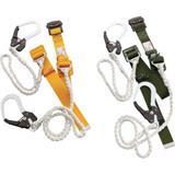 トーヨーセフティ 一本吊りWランヤード付安全帯(Wロープ)緑 GH555CWGN