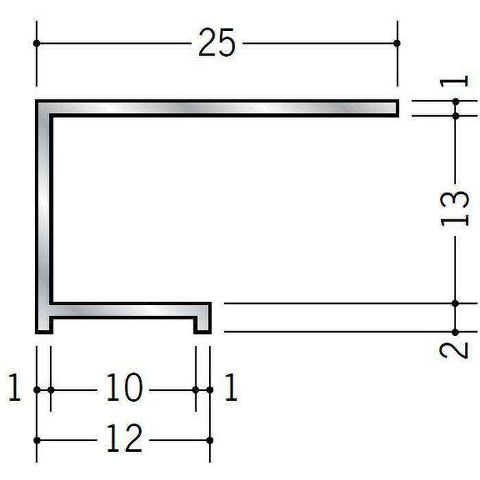 コ型見切縁 アルミ ALA-12 シルバー 3m  53034