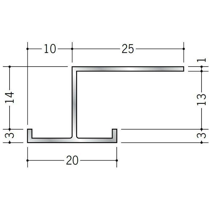 コ型見切縁 アルミ AJH-12 シルバー 3m  52214