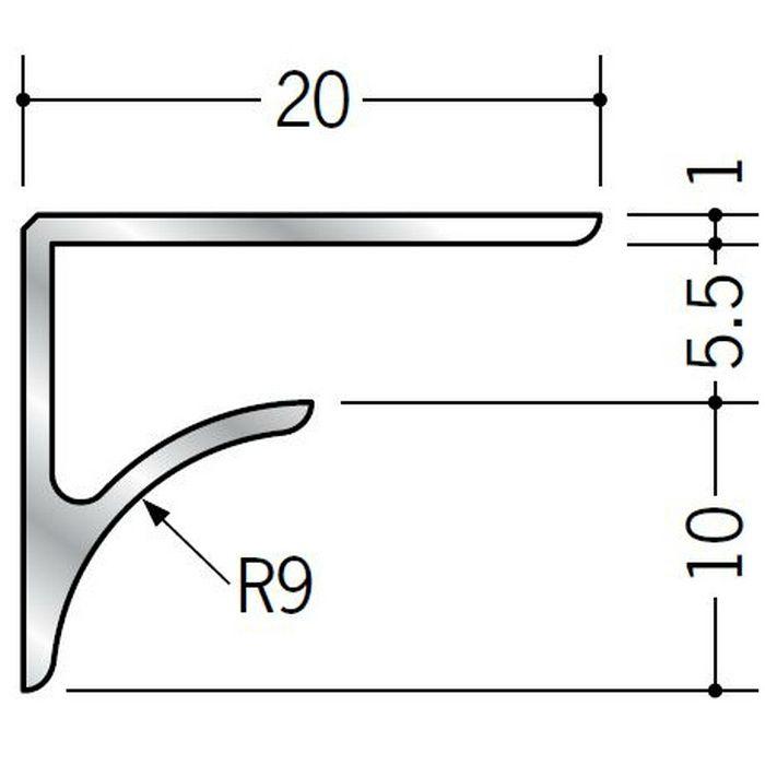 コ型見切縁 アルミ NR-5.5 シルバー 2.73m  54513