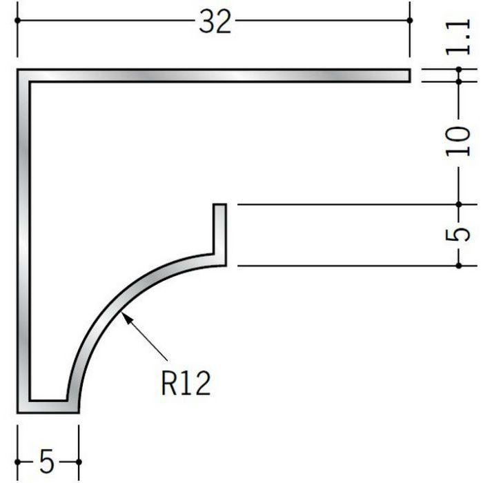 コ型見切縁 アルミ RSB-9.5 シルバー 3m  52024