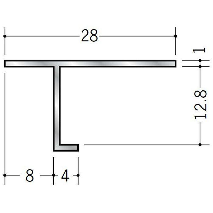 目透かし型見切縁 アルミ ANS-12 シルバー 3m  50069