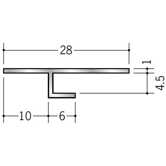 目透かし型見切縁 アルミ ATS-4 シルバー 3m  50221