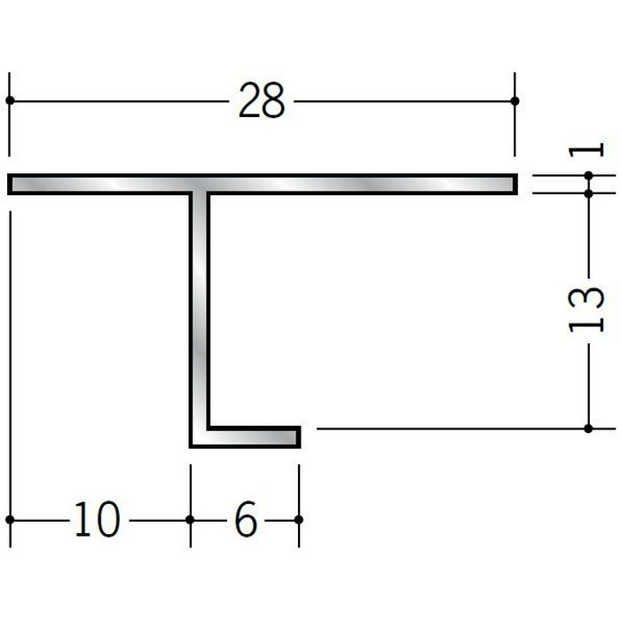 目透かし型見切縁 アルミ ATS-12 シルバー 3m  50226