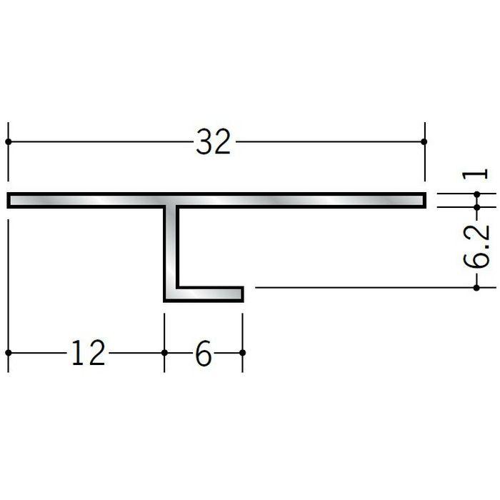 目透かし型見切縁 アルミ ART-6 シルバー 3m  50006