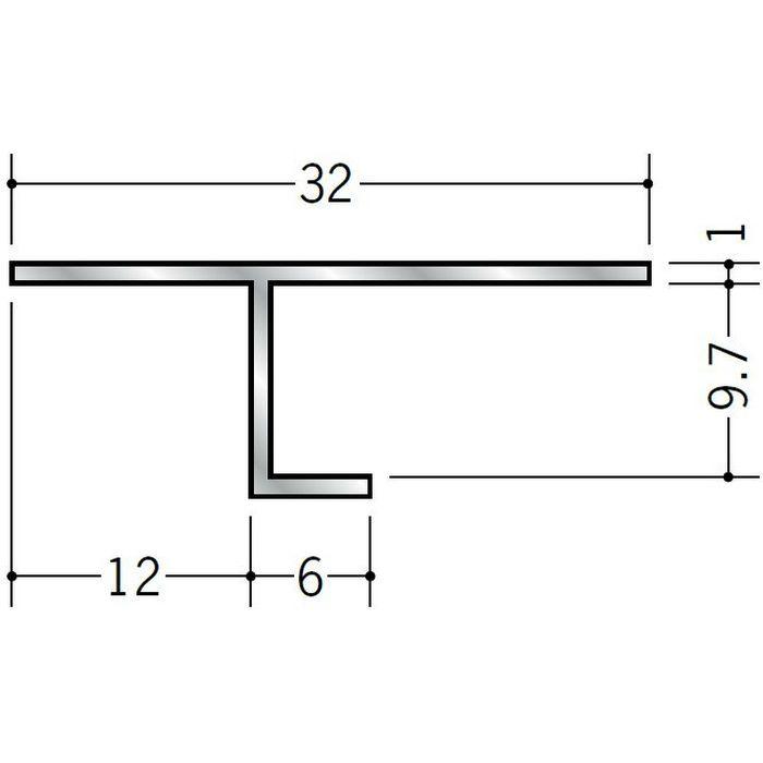 目透かし型見切縁 アルミ ART-9 シルバー 3m  50007