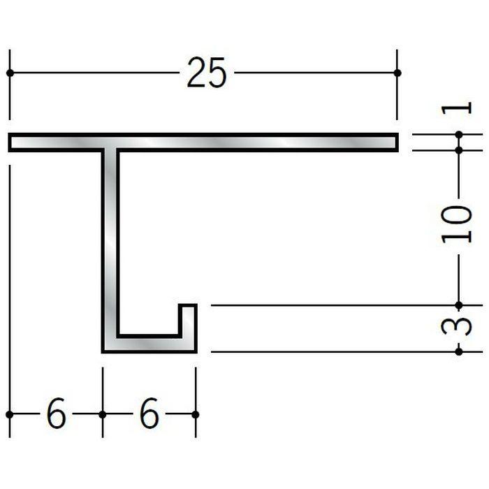 目透かし型見切縁 アルミ AMS-10 シルバー 3m  51128