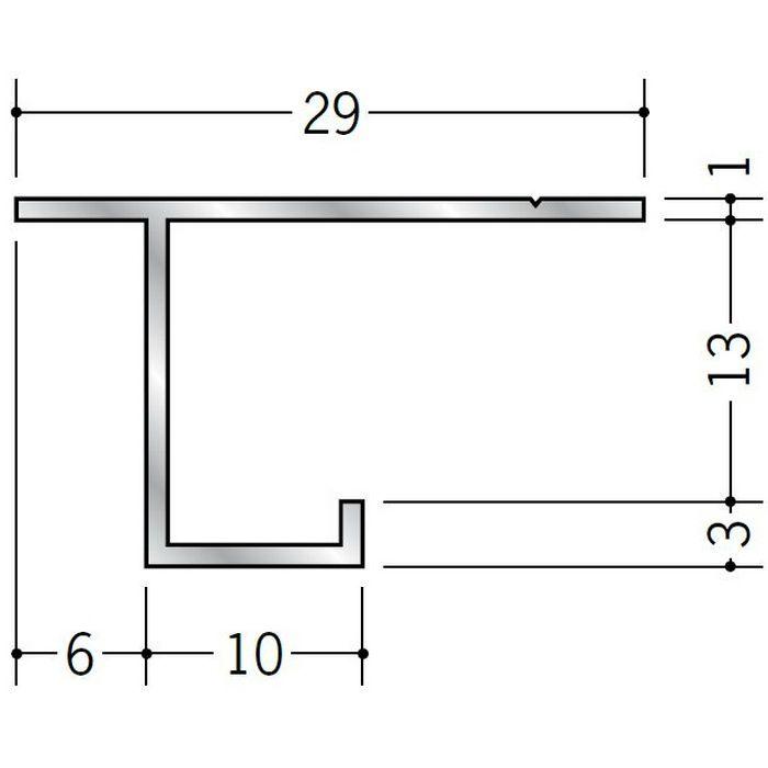 目透かし型見切縁 アルミ CSC-13 シルバー 3m  51077